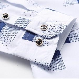 Image 4 - Plaid Shirts Mannen Mode 2019 Nieuwe Herfst Button Down Lange Mouwen Casual Sociale Shirt Plus Size 4XL 5XL 6XL 7XL