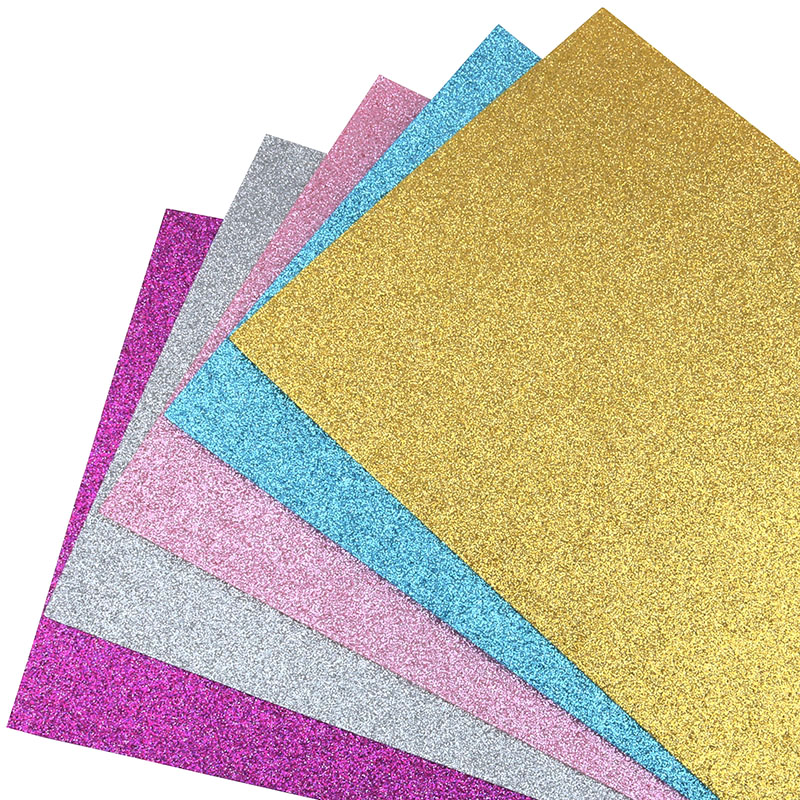 Nanchuang 1.4mm Thickness Glitter Colorful Non Woven Felt Fabric For Home Decoration Pattern Sewing Doll&Crafts Material 20x15cm