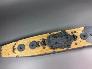 Image 4 - 1/350 Schaal Houten Dek voor Tamiya 78031 Japanse Slagschip Musashi Model CY350041