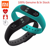 Original Xiaomi Mi Bands 2 Miband Band2 Black Wristband Bracelet with Smart Heart Rate Fitness Tracker Touchpad OLED Strap