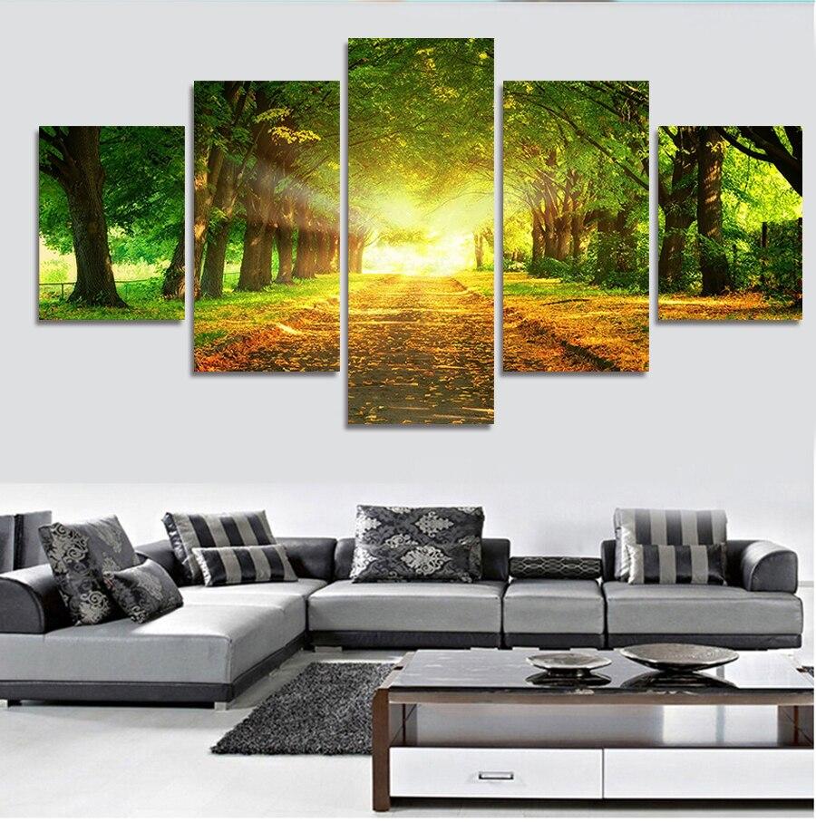 Bedroom, Pcs, Decoration, Print, Sunshine, Canvas
