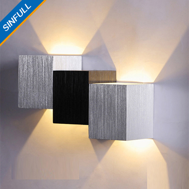 Gl0086 2w Factory Outlet Led Wall Lamps Modern Aluminum Bedside Lights Stairway Background Decor Luminaria