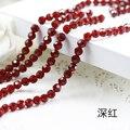 Shipping ~! 3A de Color Rojo Oscuro + collar pulsera joyas de Cuentas De Vidrio Cristal Redondo Flojo para JDIY accessories.4mm ~ 10mm