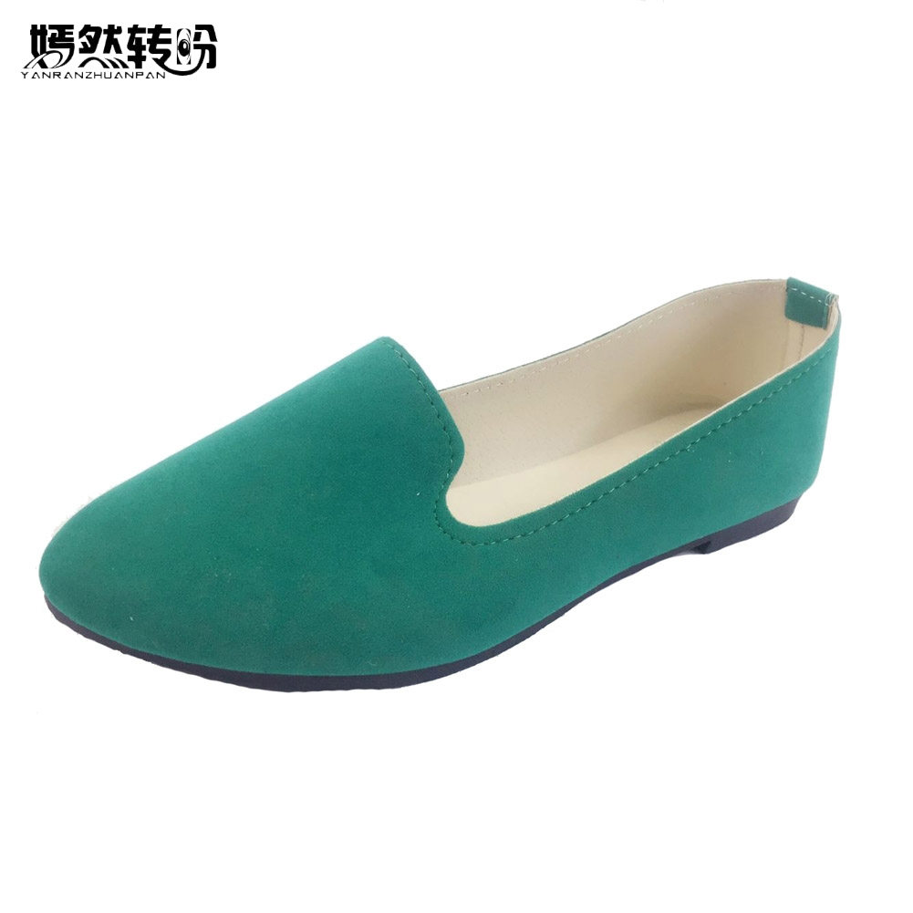 Plus Size 43 Women Flats Shoes Candy Color Woman Loafers Spring Autumn Flat Women Zapatos Mujer Summer Dance Shoes flat shoes women pu leather women s loafers 2016 spring summer new ladies shoes flats womens mocassin plus size jan6