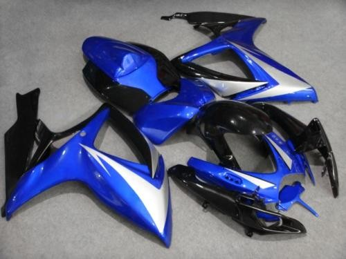 Motorcycle <font><b>Fairing</b></font> <font><b>kit</b></font> for GSXR600 750 K6 06 07 <font><b>GSXR</b></font> <font><b>600</b></font> <font><b>GSXR</b></font> 750 2006 <font><b>2007</b></font> ABS blue black <font><b>Fairings</b></font> set for SUZUKI D image