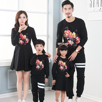 Family Set 2017 Father And Son Clothes Family Clothing Autumn Fashion Mother Daughter Dress Family Matching