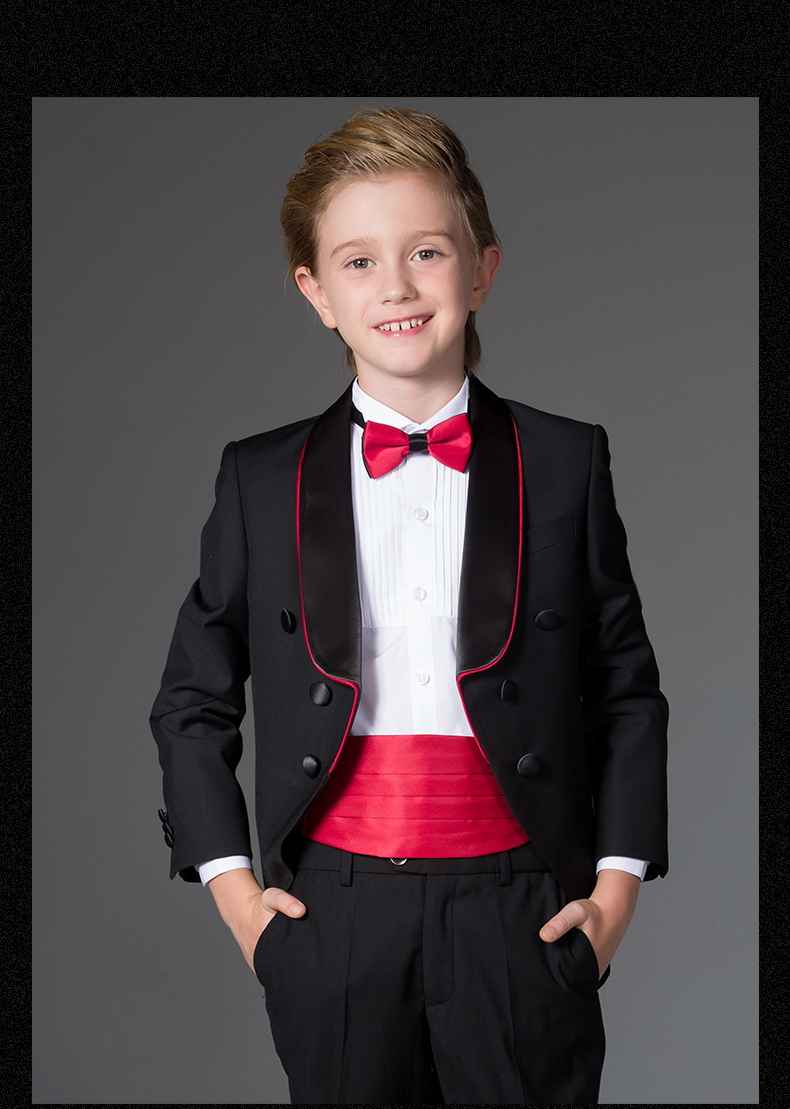 Boys Wedding Suits 4 Pieces Blazers Jackets sets Kids Clothes Baby Formal dress Boys Tail Tuxedo suits Children Clothing sets kids blazers jackets blue patchwork clothing set for baby clothes boys wedding dress children lounge suit terno infantil blazers