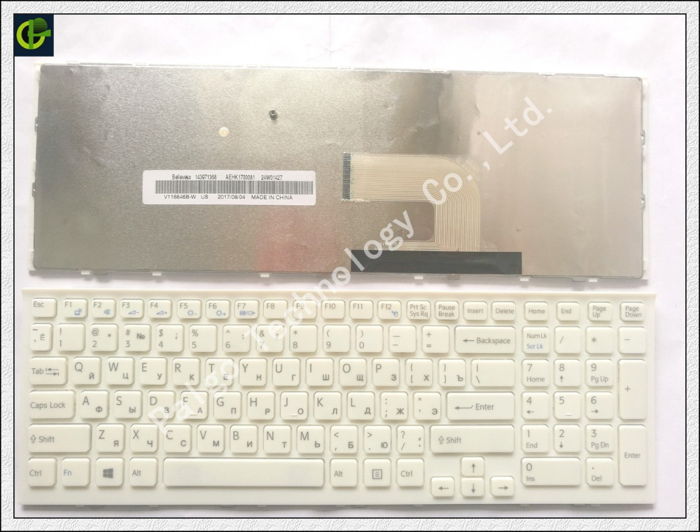 Russian keyboard for Sony Vaio PCG-71811L PCG-71811M 71911M PCG-71911M PCG-71811W PCG-71811V VPC-EH2J1E VPC-EH2C1E white RU wzsm new lcd lvds video cable for sony vaio pcg 71911m vpc eh lcd flex cable dd0hk1lc000