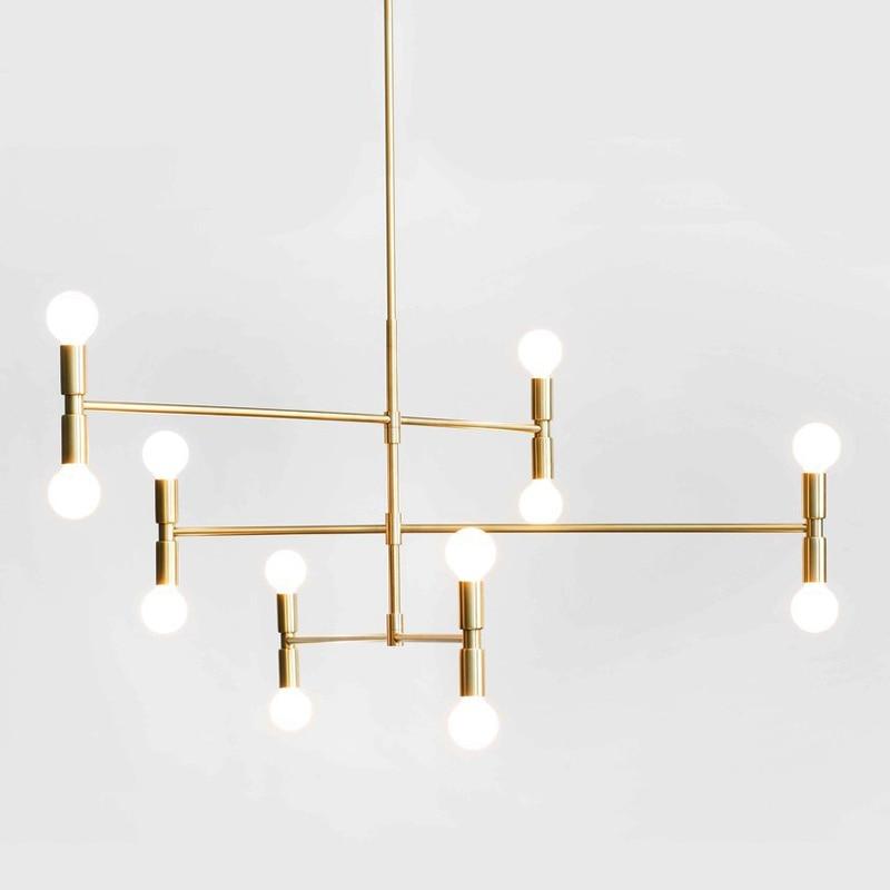 Скандинавский современный стиль стеклянный шар, железная ветка в елочку, подвесной светильник для гостиной, ресторана, спальни, бара, подве