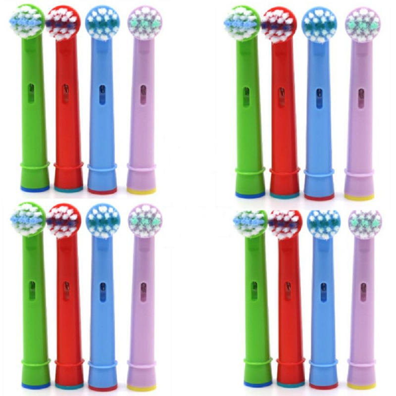 16 pcs Tooth Brush Heads Replacement Children kids Brush Heads fit for Oral Pro-Health B Stages Dory Electric Toothbrush image