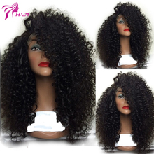 Mongolian Afro Knky Curly Wig Virgin Hair Lace Front Wig 180density Kinky Curly Lace Front Human Hair Wigs for Black Women