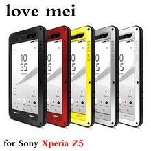 Для Sony Xperia Z5 3 доказательство чехол Роскошный Любовь Мэй мощный металлический корпус E6653 E6633 E6683 E6603 алюминиевый водонепроницаемый ударопрочный чехол
