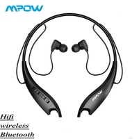 TOP Mpow Jaws 5Gen Bluetooth 5.0 Headphones With Mic Crystal Clear 18H Ultra Long Battery Life HiFi Stereo Sport Headphones