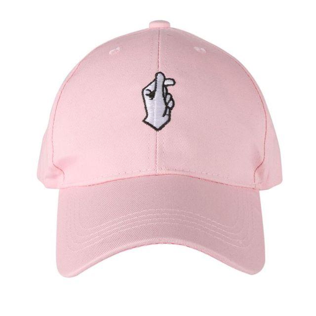 02f45cb475768 2018 verano sombrero bordado curvas Casual gorras de béisbol hombres mujeres  Hip Hop sombrero Rosa moda