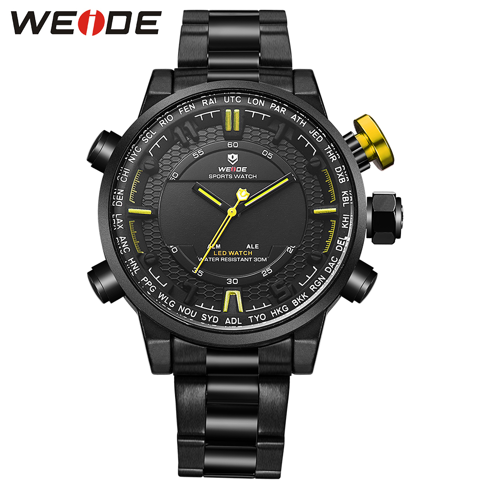 Original Fashion WEIDE Watch Mens Sport Watch Men Digital Quartz LED Display Military Watch Alarm Waterproof Wristwatch Relogios купить недорого в Москве