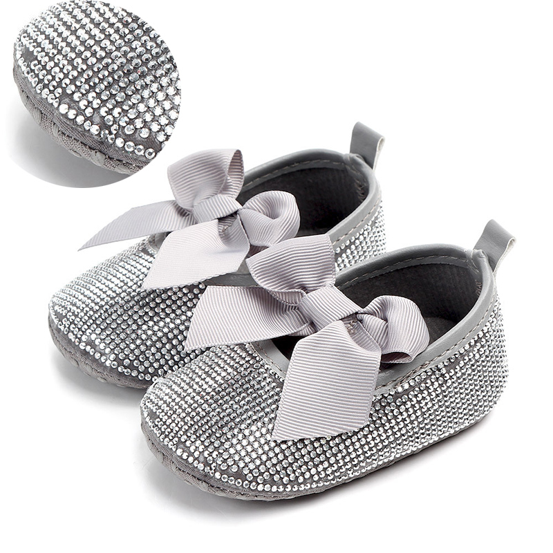 Sparkle Bling Bling Shoes Crystals Rhinestones Baby Shoes Infant Ribbon Ballerina Shoes Wholesale Welcomed