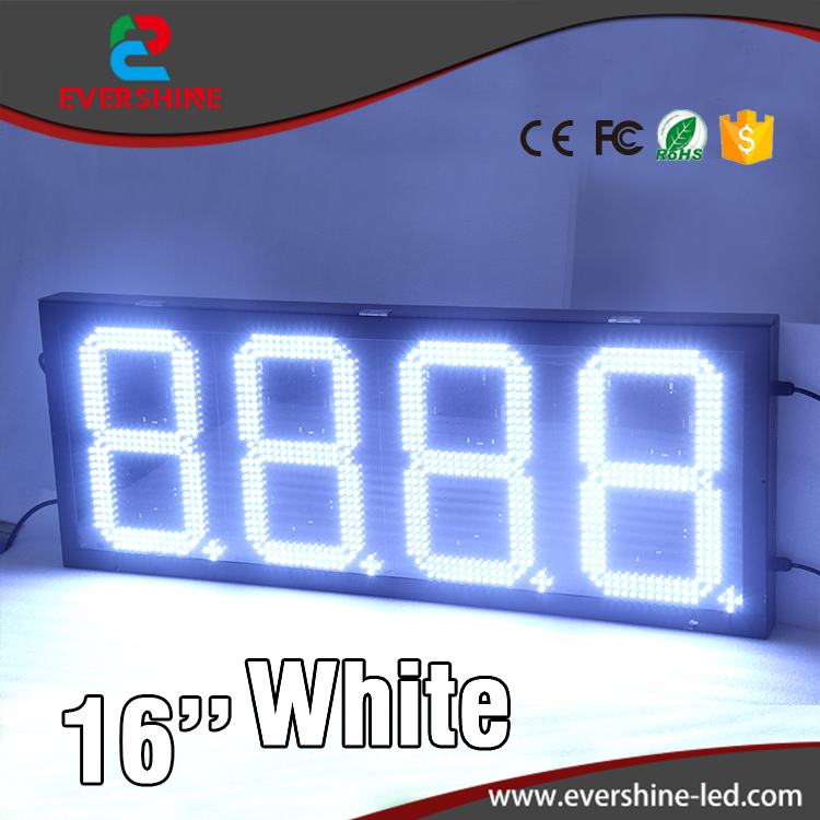 white color gas station sign/ outdoor 4 digits gas price led signs/ led digital price number display hd high quality led gas price display sign outdoor led billboard green color 12 outdoor led display screen