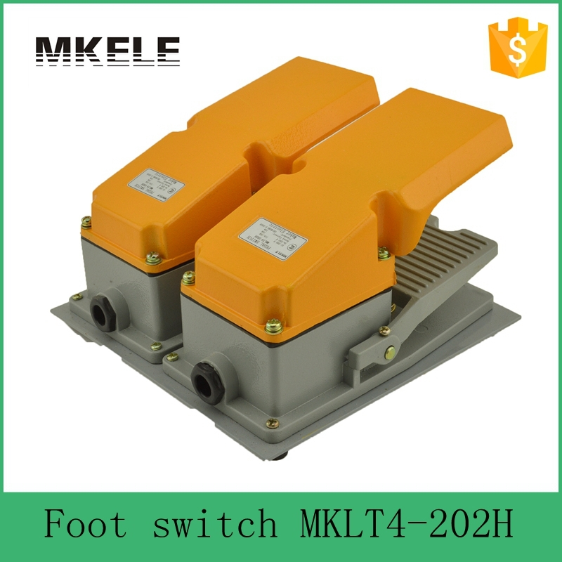 MKLT4-202H factory price cheap CE Newest latest metal double pedal foot switch for bending machine punch manual metal bending machine press brake for making metal model diy s n 20012