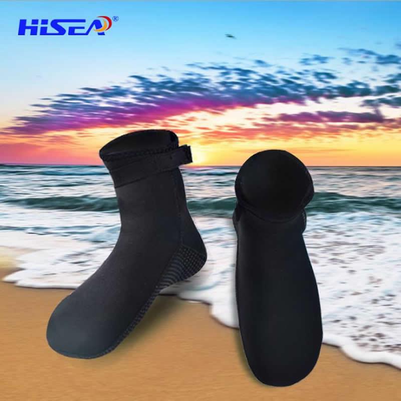 3mm Diving socks, Beach/swim snorkeling socks, Anti-skid particles, Automatic buckle design,keep warm, Diving equipment. O002