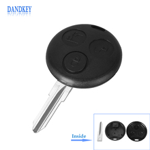 Dandkey Replacement Uncut Blank Blade Remote Key Shell Replace for SMART Fortwo 3 Button Fob Mercedes Benz Case(China)
