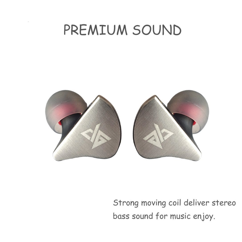AUGLAMOUR R8 Upgraded In Ear HIFI Earphones Gold Ear Hook Metal Earbuds DIY Earplugs Dynamic Bass Stereo Music With 2-Pin Cable