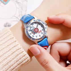 Disney Мстители детские часы Американский капитан Мультяшные кварцевые часы дети мода дети часы для обувь мальчиков детские часы Relogio Infantil