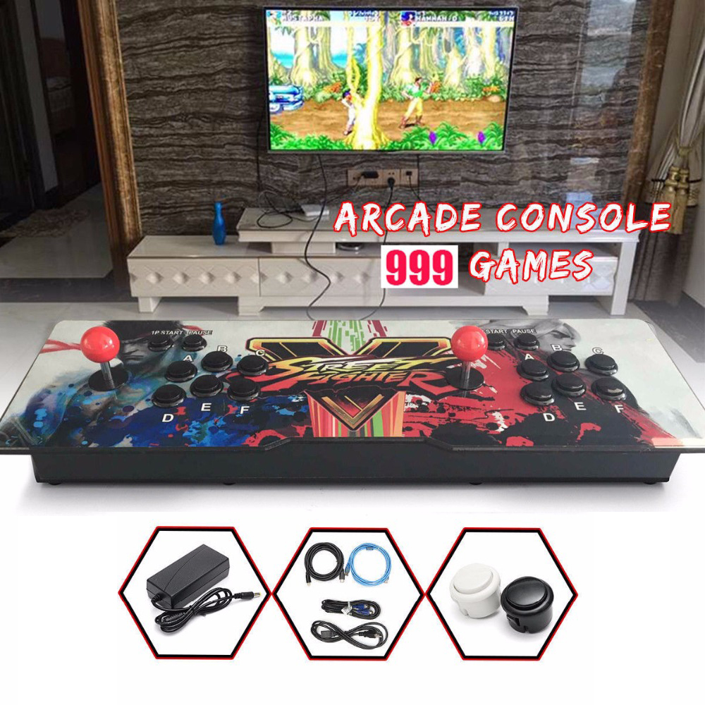 999 Retro Video Games All in One Double Stick Arcade Console Hot sale Pandora Box