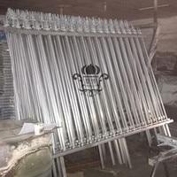 HENCH Garden Fence 8'x5' Black Mordern Style Ornamental Iron Wrought Hc-f5