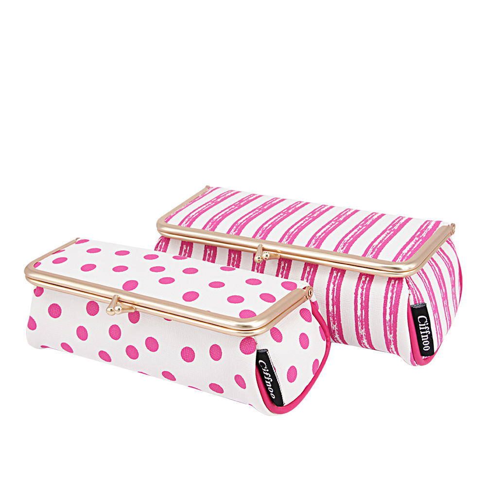 New Women Fashion Cosmetic Bag High Quality Makeup Box With Mirror Professional Ladies Toiletry Bag Cute