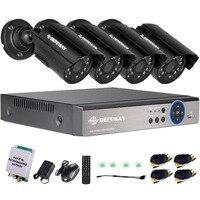DEFEWAY 4CH выход DVR P 720 водонепроницаемый 1200TVL ночное видение камера CCTV системы наблюдения наборы с аварийного батарея Новинка 2017 года