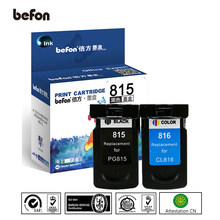 Befon 815 816 Re-Fabricado de Substituição Do Cartucho de Tinta para Canon pg-815 pg 815 cl 816 para IP2780 PG815 CL816 MP236 MP259 MP288(China)