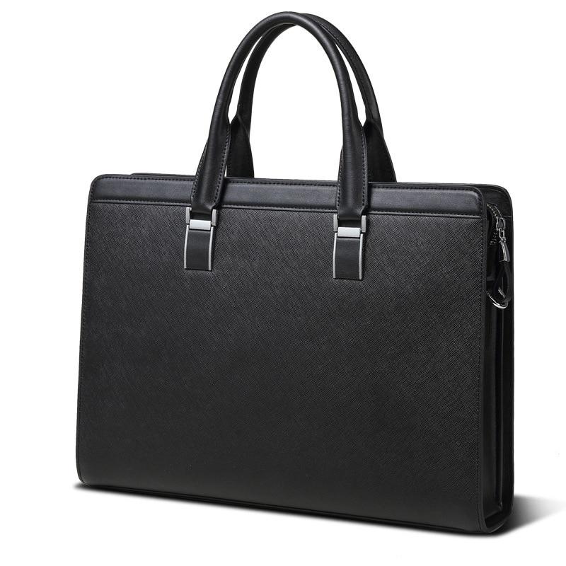 De luxe Portable commerciale timbre motif peau de vache en cuir homme sac porte-documents, hommes en cuir sac à main, designer briefcase de marque