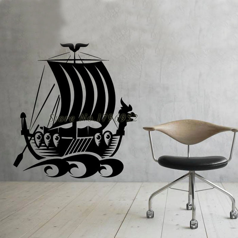 Living Room Decoration Wall Decals Pirate Ships Vinyl Removable Wall Stickers Best Quality Hot Selling
