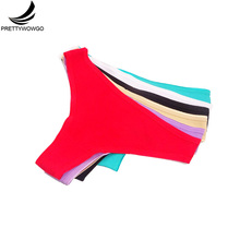 Prettywowgo 6 pcs/lot New Arrival 2019 Good Quality Cotton Underwear Women G String Thong Panties 7101