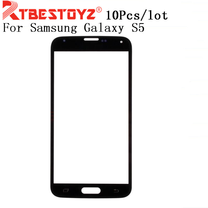 RTBESTOYZ 10PCS/Lot Front Outer Touch Screen Lens <font><b>Glass</b></font> For <font><b>Samsung</b></font> <font><b>Galaxy</b></font> <font><b>S5</b></font> G900f i9600 Parts <font><b>Replacement</b></font> image