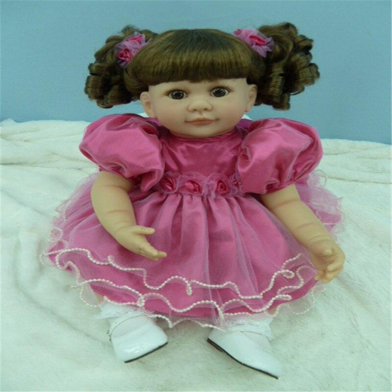 20 inch 50 cm  reborn Silicone  dolls, lifelike doll reborn babies toys Pretty princess dress girl : 91lifestyle
