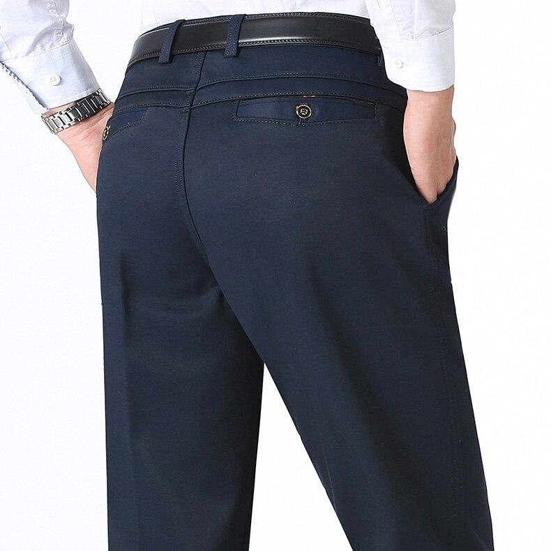 HTB1mb8fDuuSBuNjSsziq6zq8pXaJ Autumn Winter Men Warm Fleece Classic Black Cotton Pants Mens Business Loose Long Trousers Quality Casual Work Pants Overalls