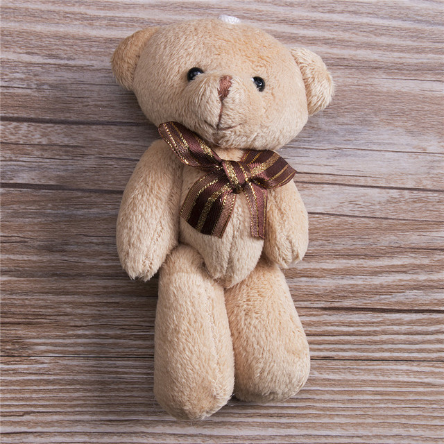 Lindo Cachecol de Pelúcia Marrom Ursinho de pelúcia Bicho de pelúcia Brinquedos Macios 12 cm Para Bouquet de Pelúcia Animais
