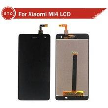 Para xiaomi m4 mi4 pantalla lcd con pantalla táctil digitalizador asamblea negro o blanco envío gratis