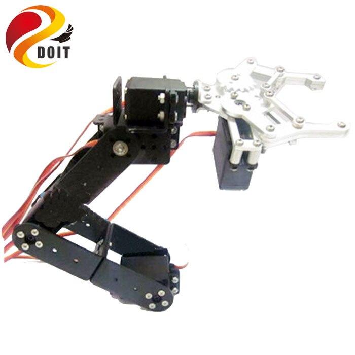 A full set of Aluminum Robot Arm Servos Bracket and 1 pcs Metal Mechanical Claw