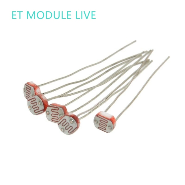 20PCS 5528 Light Dependent Resistor LDR 5MM Photoelectric resistance ...