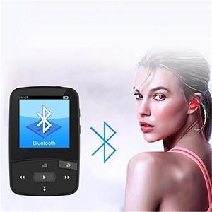 Image 5 - Nuevo Clip Bluetooth MP3 Player 8gb con pantalla deportiva reproductor de música compatible con Radio FM, grabación, podómetro + brazalete de regalo gratis