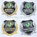 Upgrade Car Styling 3D Metal Badges Sticker with Logo fit for Rapid Octavia A5 A7 RS Fabia Superb Yeti Citigo Roomster 2pcs