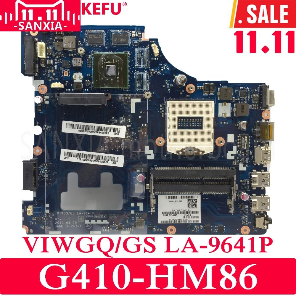 KEFU VIWGQ/GS LA-9641P Laptop motherboard for Lenovo G410 Test original mainboard HM86 PGA947 jigu new battery l11l6y01 l11s6y01 for lenovo y480p y580nt g485a g410 y480a y480 y580 g480 g485g z380 y480m