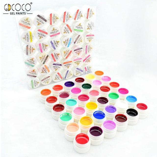 #20204 GDCOCO nail art design 36 color 5ml uv soak off paint uv gel ink