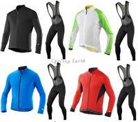 High Quality MAVIC 2015 1 Long Sleeve Autumn Bib Cycling Wear Clothes Bicycle Bike Cycling Jersey