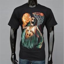 2016 Hot T Shirt Men Camiseta Joker Anime Funny 3D Death Ghost Tshirt Skull Blusa Skeleton Head Scary T-shirt Harajuku Lol