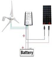 Великобритания складе Нет налога нет обязанность 560 W/ч гибридный Системы комплект: 400 Вт ветряной генератор + 160 Вт PV Панели солнечные