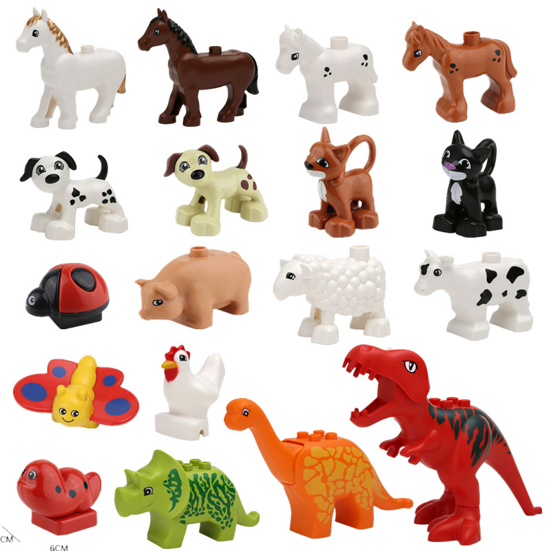 Animal Forest Farm Models Figures Dinosaur Compatible with Duple font b Toy b font DIY Building