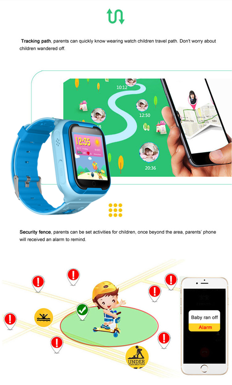 Kids GPS Tracker 4G Smart watch M05 LBS WIFI location SOS call Android 4.2 Pedometer Camera Children Smart watches M05 1PCS 6